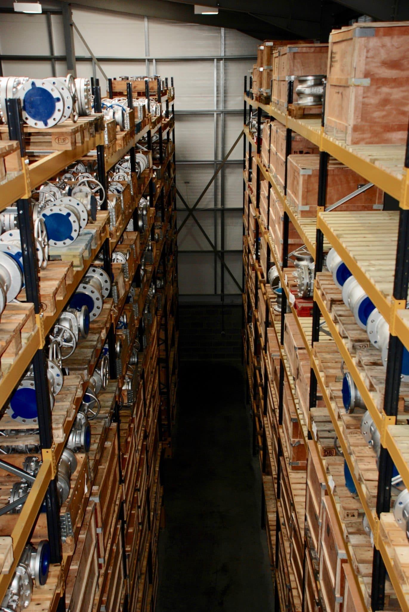 An extensive range of valves from stock